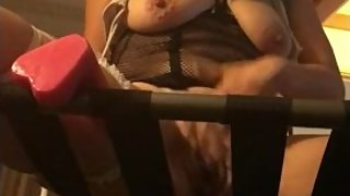 Green Hair Emo Slut Panty Sniffing And Stuffing In Hotel Room
