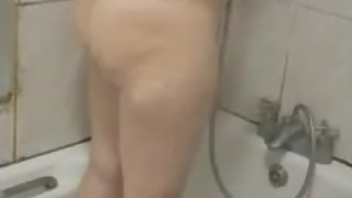 Stepmom cheating and fucking in the shower stepson while husband in bed