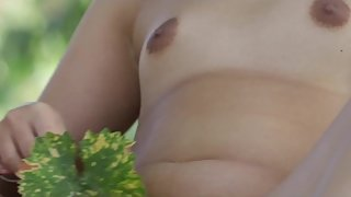 CHINEESE TEEN PLAYING IN THE VINEYARD SUPE HOT
