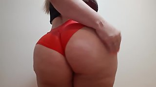 sensual red lingerie dance