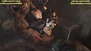 3D Monster Orgy DOA5 females fucked raw Source Filmmaker Animated