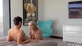Brandi Love fucks her stepson with the big cock