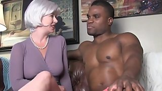Sexy wife with big tits cheating on husband with her first BBC
