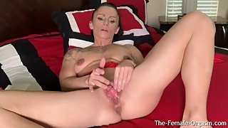Fit MILF with Huge Clit and Big Lips Rubs Out A Pussy Clenching Orgasm