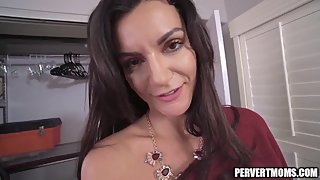Big Tit MILF Thanks Her Son For Fixing Her Car with a Blowjob and Fuck
