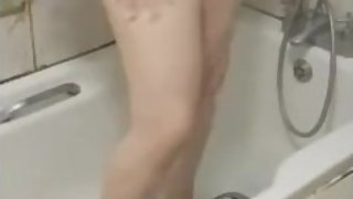 Step mom caught naked in the bathroom by step son