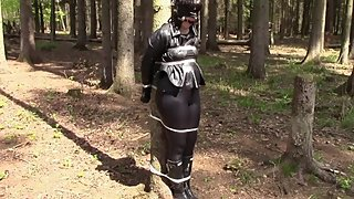 My bondage window, May 5, 2016: Tied up in the woods