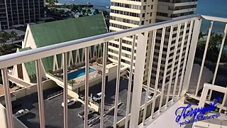 Tanning nude on balcony hotel, he put dick in... Teaser Video from Waikiki,
