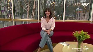 Danish TV hostess Ida Wohlert jerk off edit one show at TV2 Go' Morgen