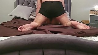 Step mom almost caught fucking step son in bedroom after dad came from work