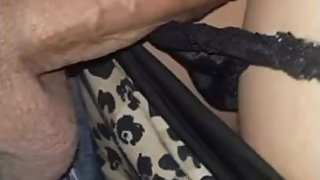 Mom in panties cum