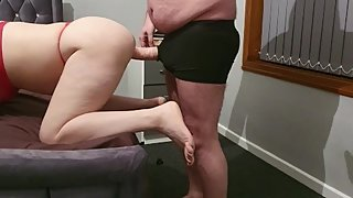 Step mom screams while step son fucking her pussy with 12 inches of dick