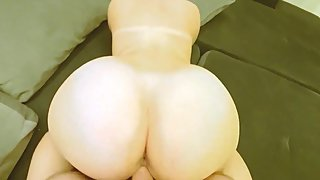 The stepmother with a big ass took a member of her son. Son cums on stepmom