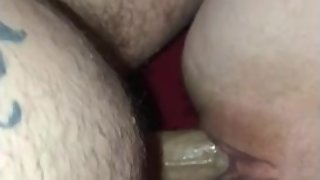 Pawg bounces on dick and squirts on her back