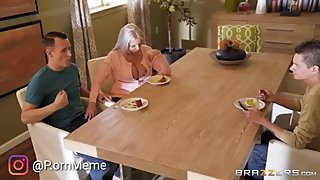 Brazzers - Seducing step MoM at dinner! In front of Dad!