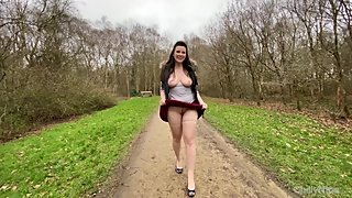 Masturbating in the woods with a courgette