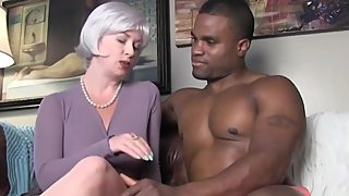 Gorgeous wife having fun with her black boss on vacation