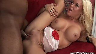 Big Tit Blonde Wifey Likes BBC Anal Sex Session Of Couple