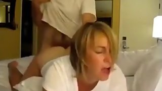 Crazy MILF with big boobs likes hot fuck with her boss