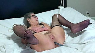 Hot Milf Gets A Hard Fucking Hubby Fills Her Pussy With Cum