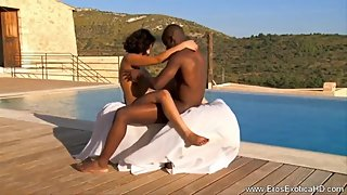 African Lovers Making Love Outdoors