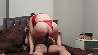 Step son failes fucking step mom having 12 inch of cock