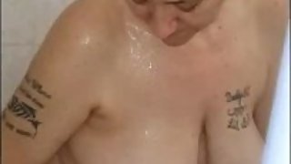 Spying On Granny Shower Water Masturbating Hard Orgasm