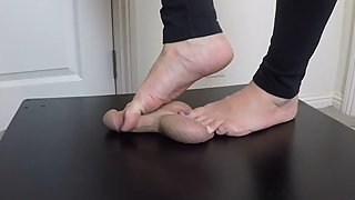 CockBox Crush Foot Job With Two Ruined Orgasms and Post Orgasm Torture