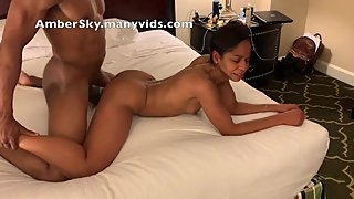 AMBER SKY MOANS WHILE HER BOOTY SHAKES GETTING POUNDED BY MILITARY BBC