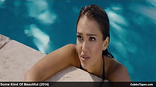 Jessica Alba, Lindsey Sporrer & Salma Hayek nude and sexy movie scenes