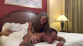 All Natural Milf Seduces Young Man