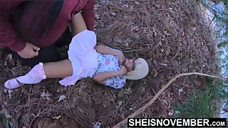 Spread Eagle By Moms Husband And Fucked Missionary On The Forest Grass