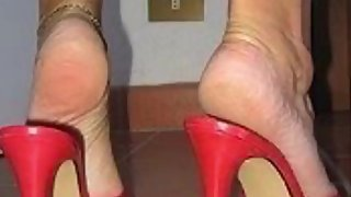 High heels foot fetish compilation