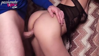 Horny Woman Deepthroat and Rough Sex in Lover - Cum in Mouth